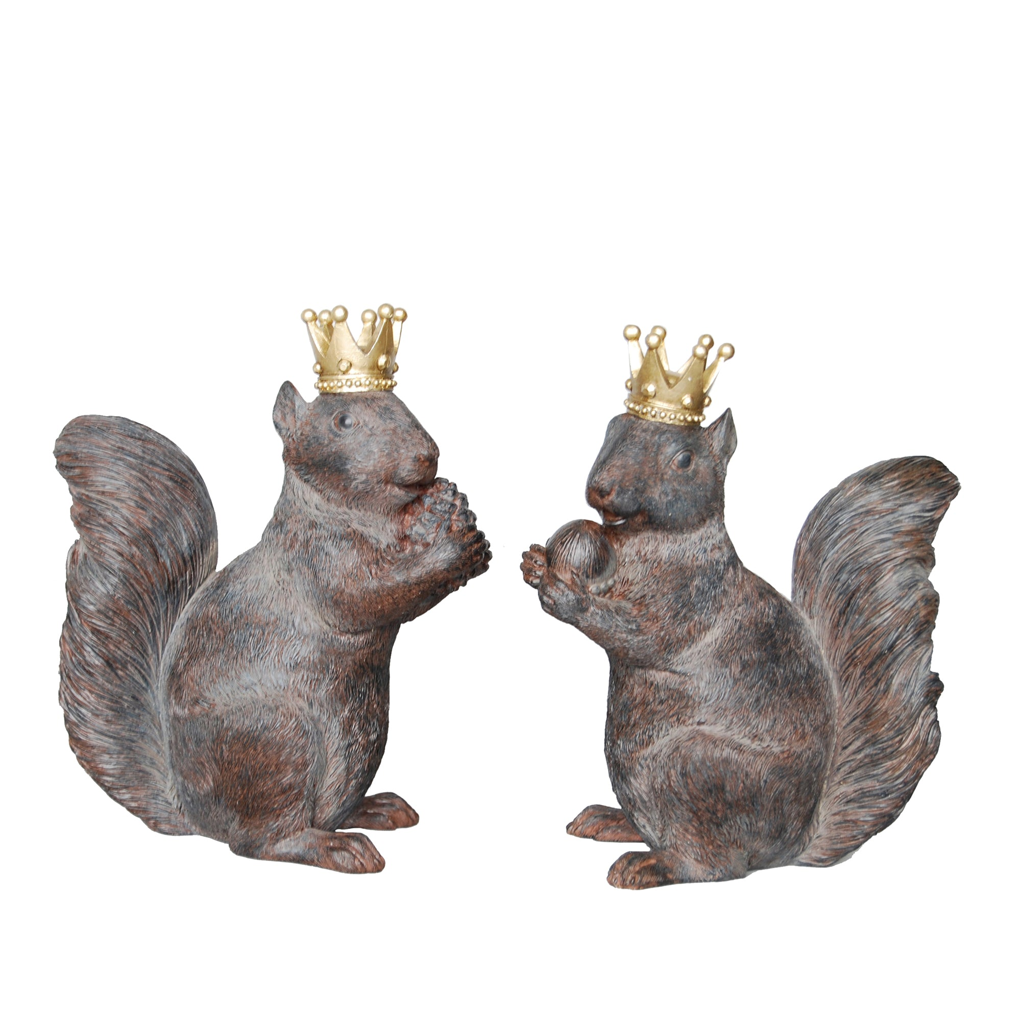 2/ASST RUST SQUIRRELS W/ CROWNS