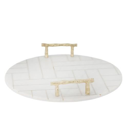 White Marble Tray - Shop Tray - DARRA HOME