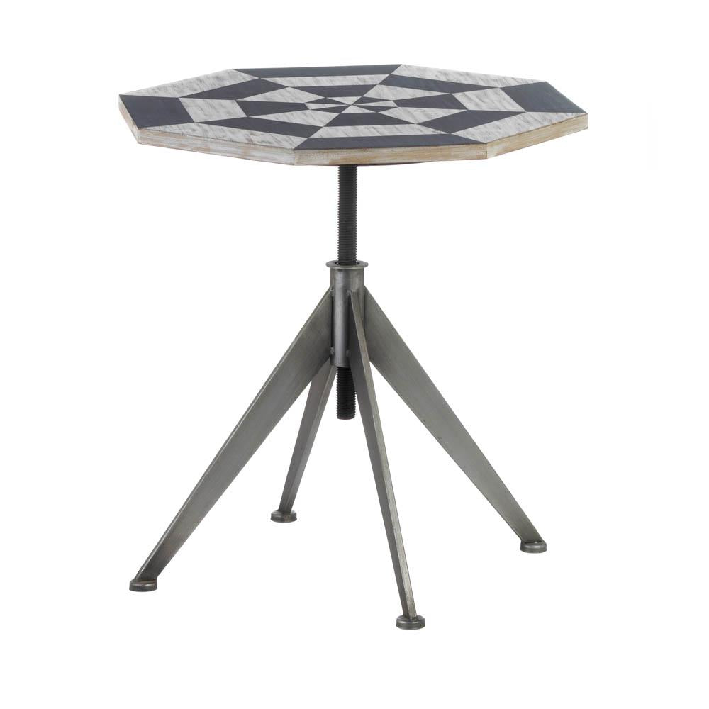 Black And White Checker Side Table - Shop Table - DARRA HOME
