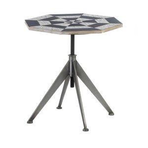 Black And White Checker Side Table