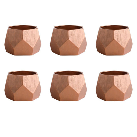 Copper Triangle Band Napkin Ring Set/6 - Shop Napkin Ring - DARRA HOME