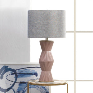 Gable Pink Ridges Table Lamp - Shop Lamp - DARRA HOME