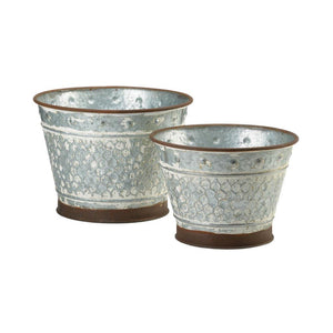 Galvanized Metal Planters - Shop Planters - DARRA HOME