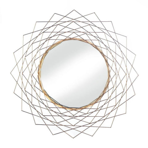 Golden Geometric Wall Mirror - Shop Mirror - DARRA HOME