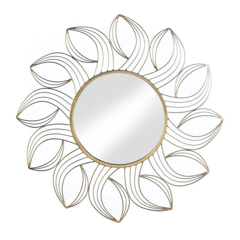 Golden Petals Wall Mirror - DARRA HOME