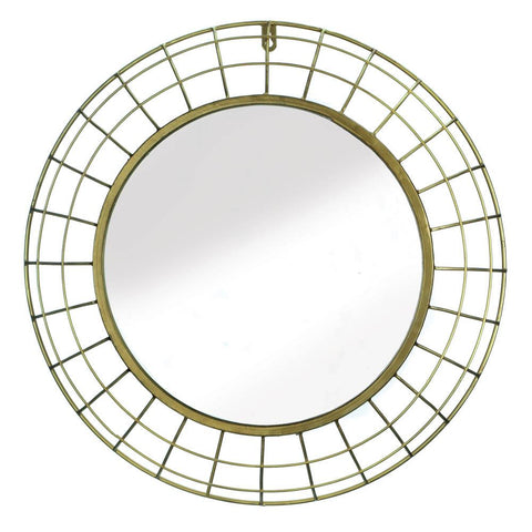 Golden Wire Dome Framed Wall Mirror - DARRA HOME