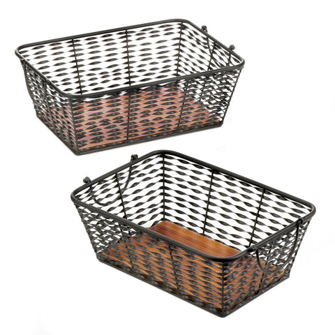 Iron Basket Set - Shop Basket - DARRA HOME