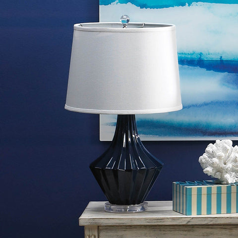 Mason Blue And White Table Lamp - Shop Lamp - DARRA HOME