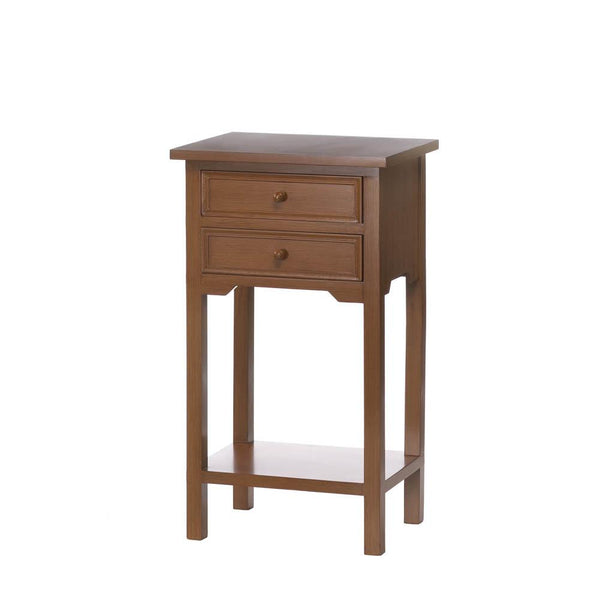 Wooden Side Table with Storage - DARRA HOME