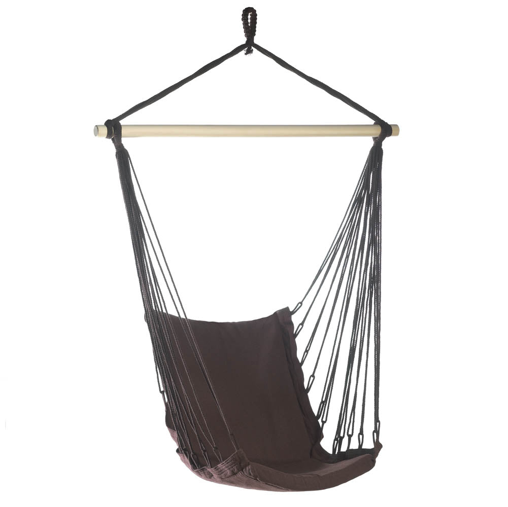 Outdoor Espresso Swing Chair