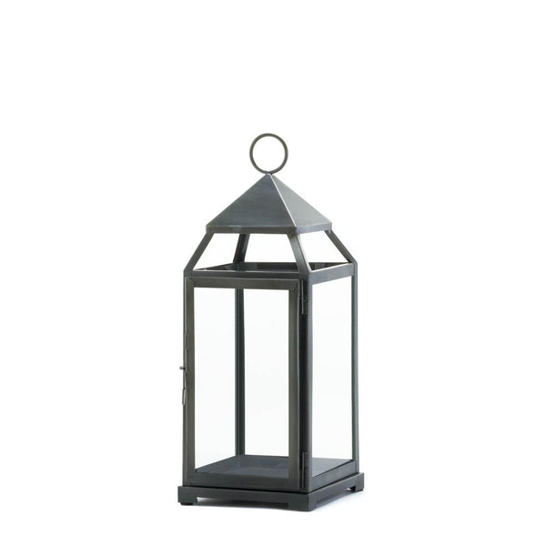 Rustic Silver Contemporary Lantern - Shop Lantern - DARRA HOME
