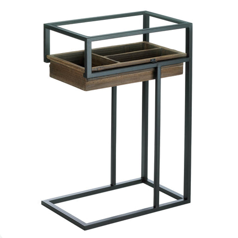 Side Table With Slide Out Drawer - DARRA HOME