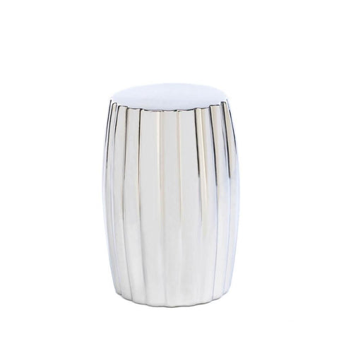 Silver Decorative Stool - DARRA HOME