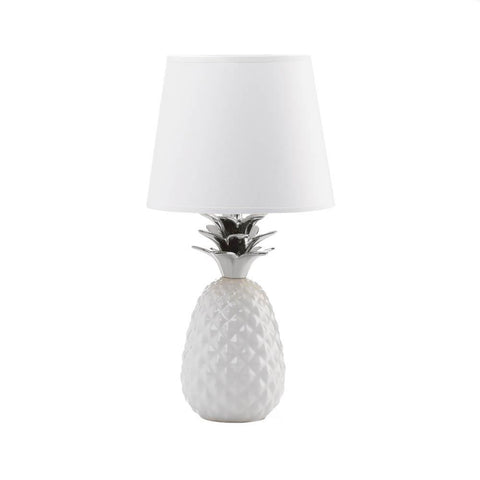 Silver Topped Pineapple Table Lamp - Shop Lamp - DARRA HOME