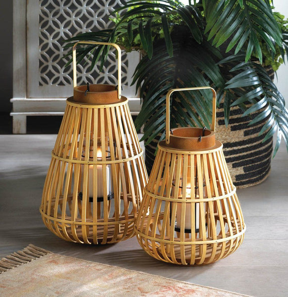 Small Slat Wood Lantern