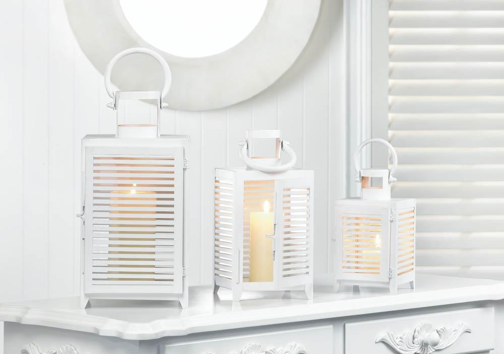 White Horizon Lantern - DARRA HOME