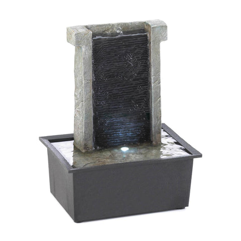 Stone Wall Tabletop Fountain