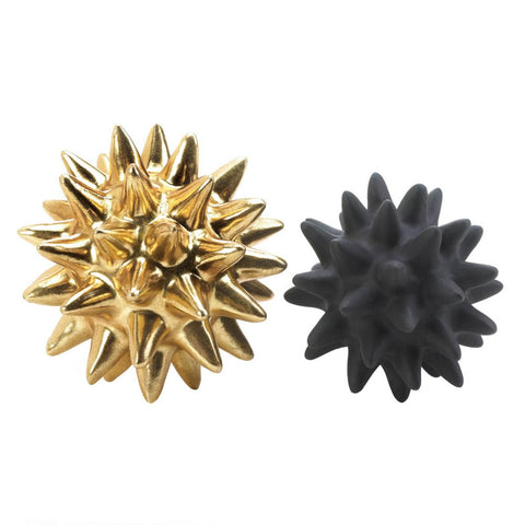 Storico Gold And Black Spike Sculptures - Shop Sculptures - DARRA HOME