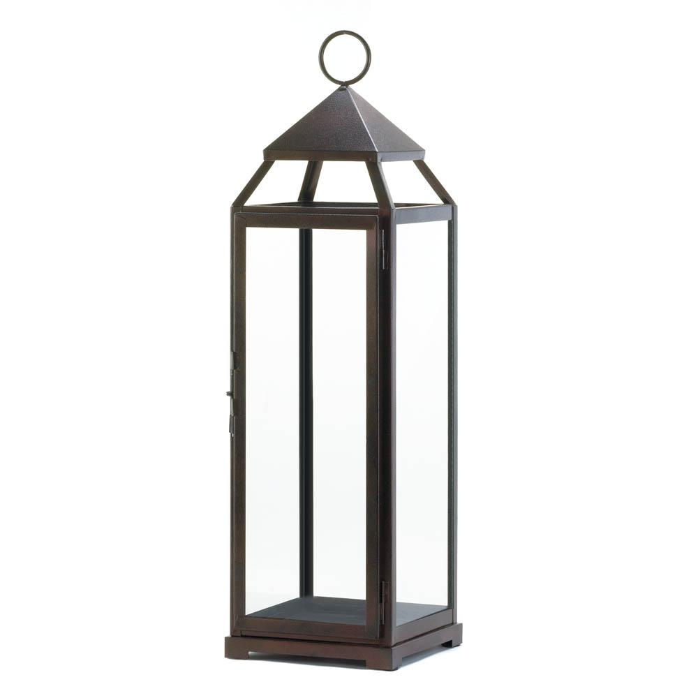 Tall Bronze Contemporary Lantern - Shop Lantern - DARRA HOME