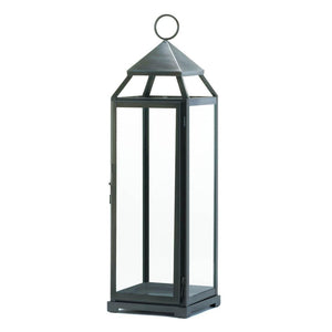 Tall Brushed Silver Lantern - Shop Lantern - DARRA HOME