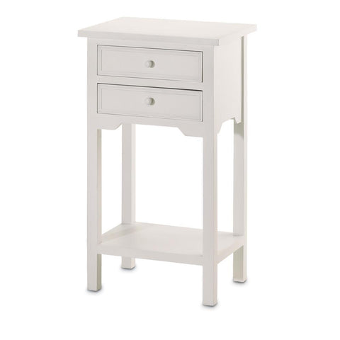 White Accent Table - Shop Table - DARRA HOME
