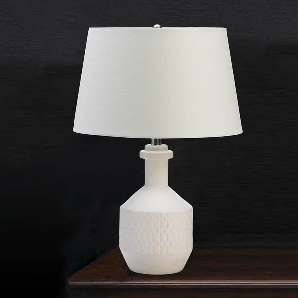 White Base Table Lamp - Shop Lamp - DARRA HOME