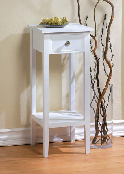 Willow White Side Table - DARRA HOME