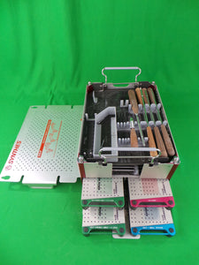 Synthes CSLP Cervical Spine Locking Plate Instruments/Implants Tray Set