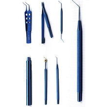 Carregar imagem no visualizador da galeria, 21 pcs ophthalmic surgical instruments set titanium cataract eye handtool set for intraocular lens implant and cataract surgery
