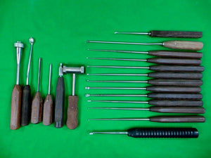 Lot of Koros Neuro Spine Curette surgical set and Bone Instruments