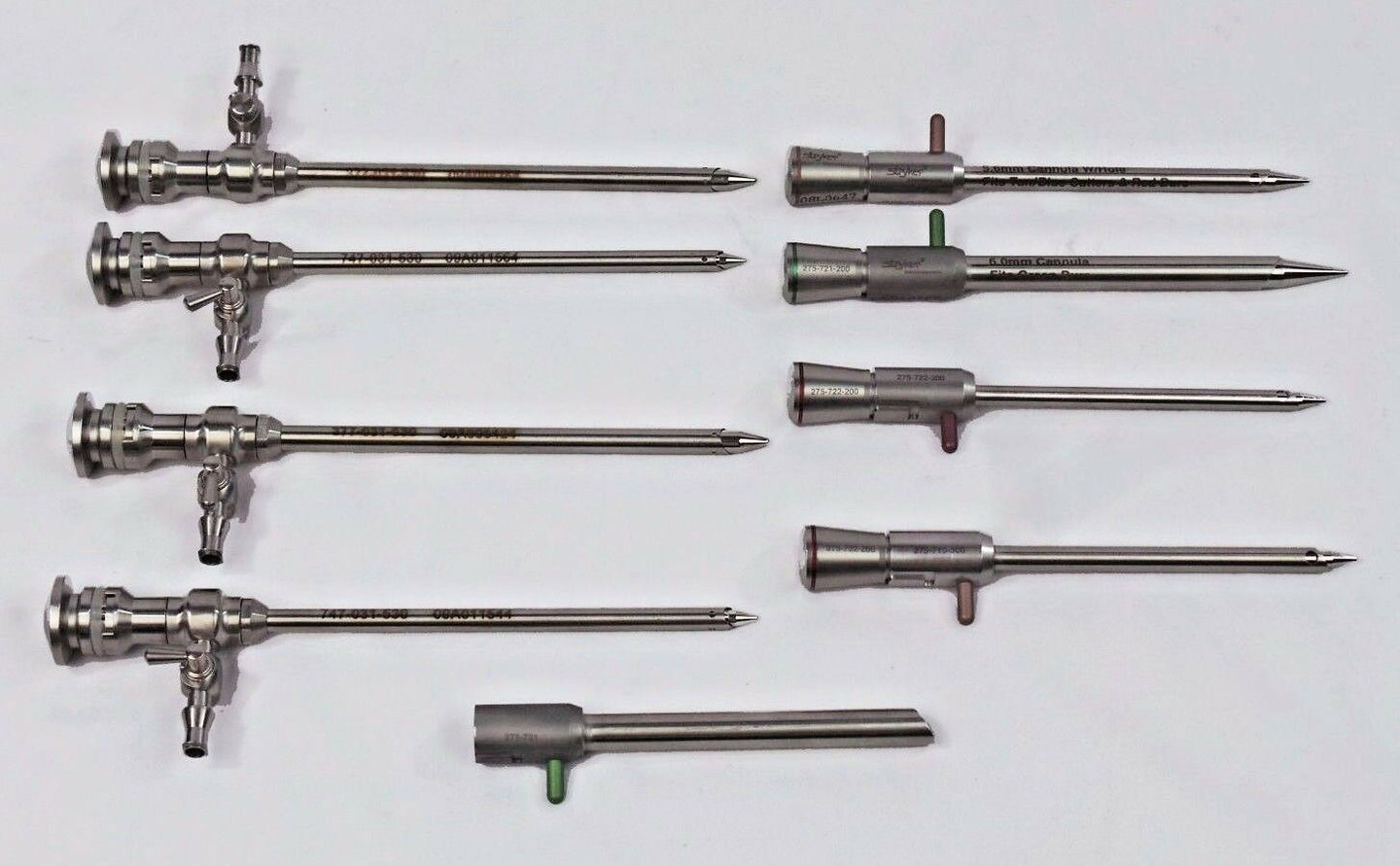 STRYKER 747-031-530 Arthroscope Cannula & Obturator sets Endoscopy 9 piece
