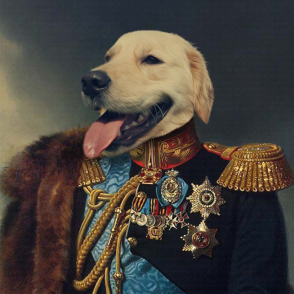 The Emperor Pet Portrait