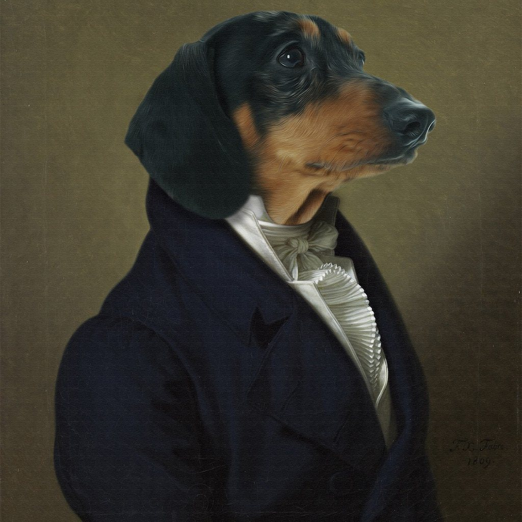 The Ambassador Pet Portrait
