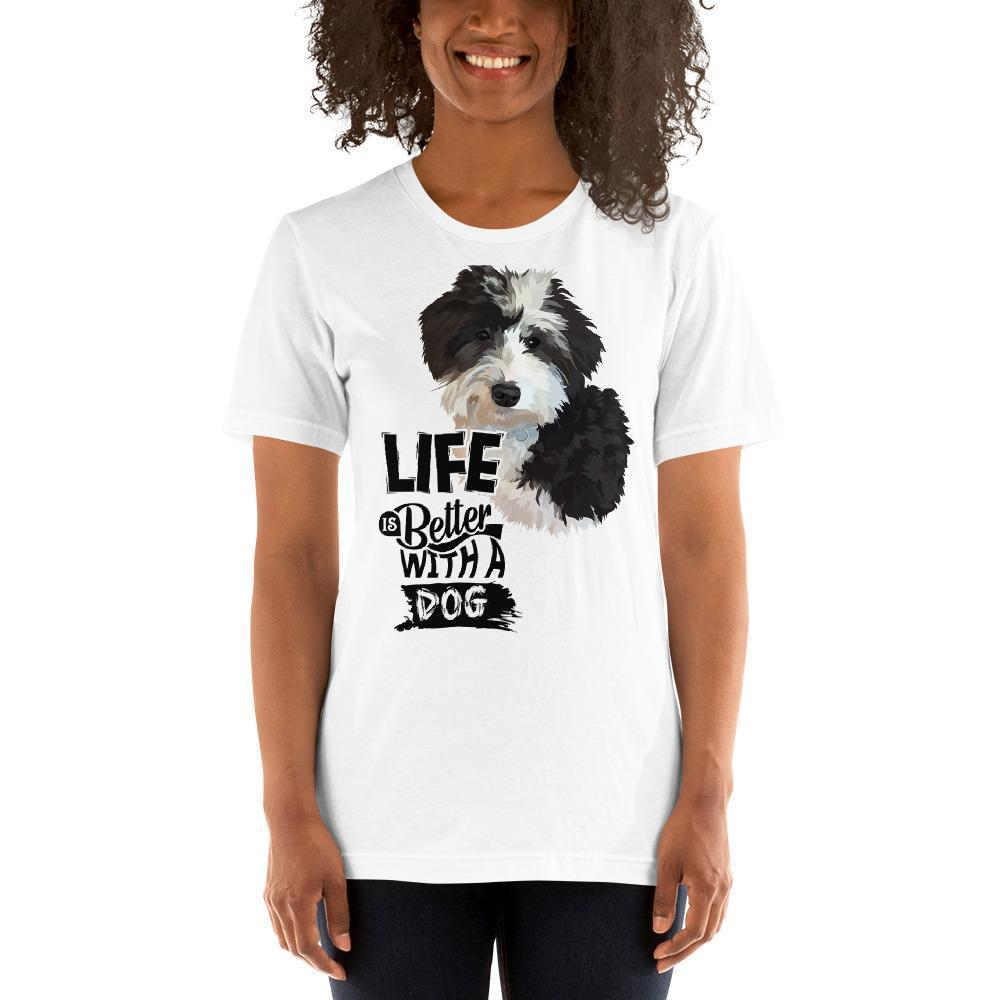 Life Is Better With A Dog  - Hand Drawn Custom Tee