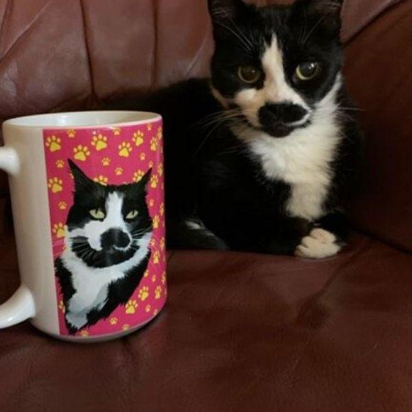 Custom Drawn Pet Art Coffee Mug
