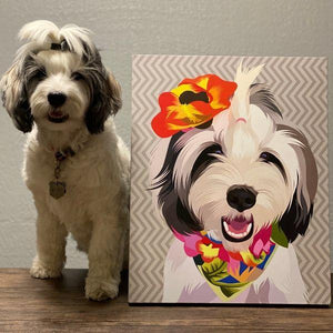 Custom Pet Art Canvas