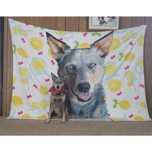 Custom Pet Fleece Blankets