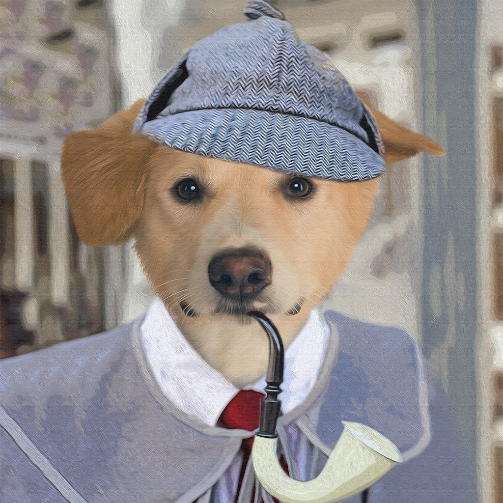 The Detective Pet Portrait