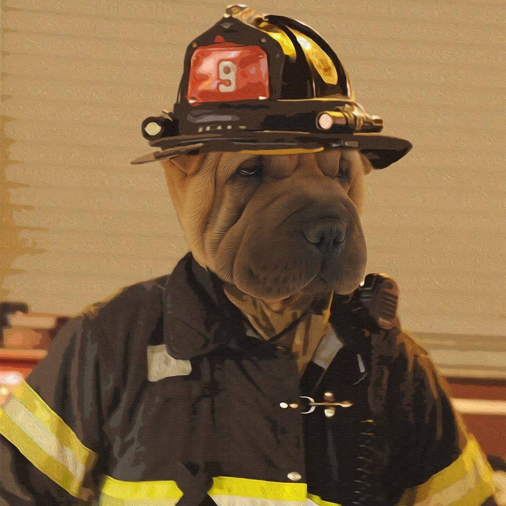 The Firefighter Pet Portrait