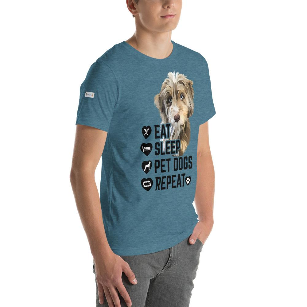 Eat Sleep Pet Dogs Repeat  - Custom Tee