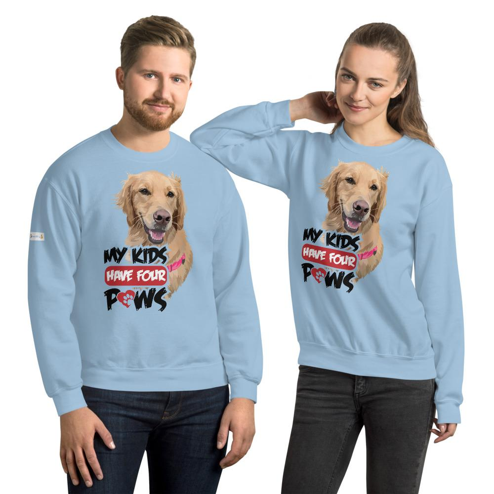 My Kids Have Four Paws - Custom Sweatshirt