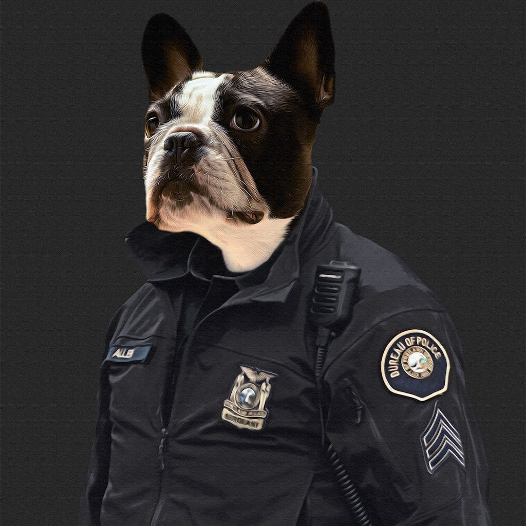 The Cop Pet Portrait