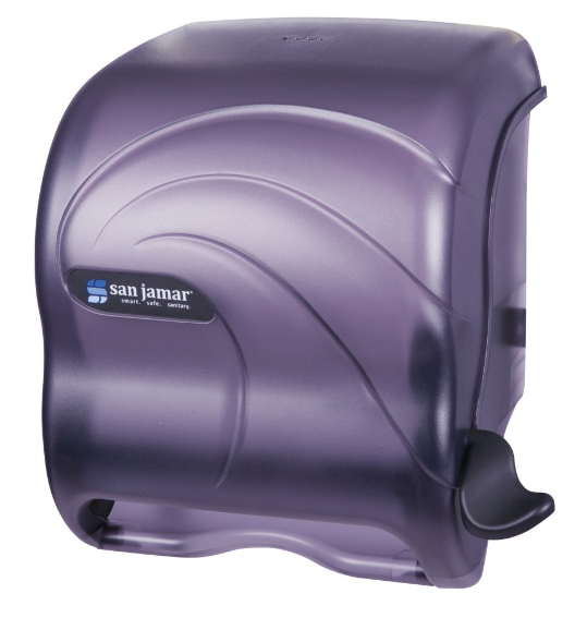 Lever Roll Towel Dispenser, Smoke Grey