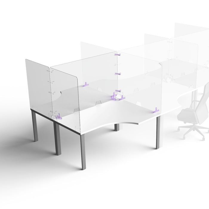 Parapet Ergonomic Back-to-Back - Acrylic Desk Screens