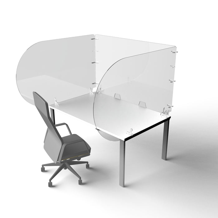 Parapet Rectangular - Acrylic Desk Screens - Starter Kit