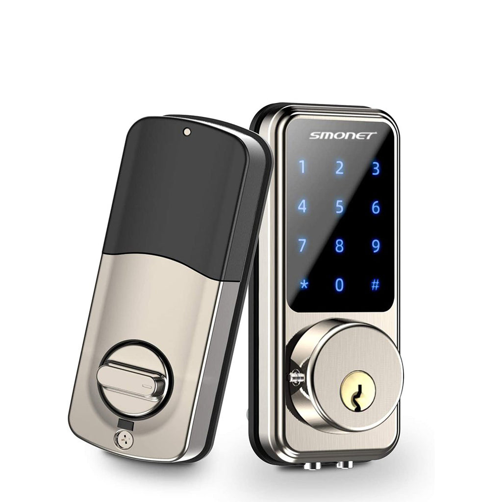 Digital Door Lock, Keyless Bluetooth Touchscreen | Smartphone Control | Work with Alexa | Smonet SMUS-MD