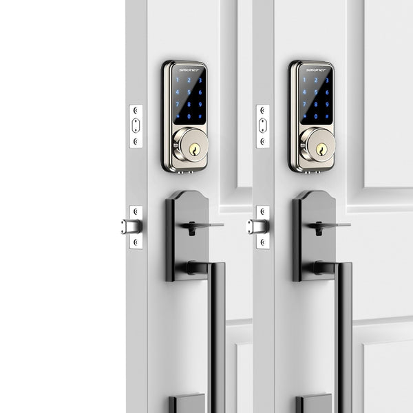 Digital Door Lock, Keyless Bluetooth Touchscreen | Smartphone Control | Work with Alexa | Smonet SMUS-MD  2 SMART LOCK