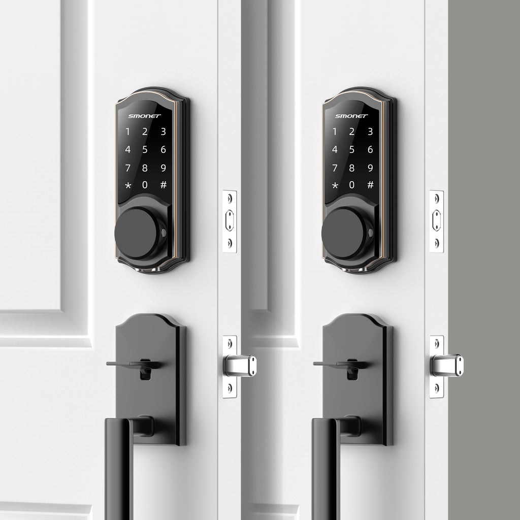 Wifi Keyless Door Lock, Touchscreen Coded Keypad | Work with Alexa | Smonet SMUS-AM  2 SMART LOCK