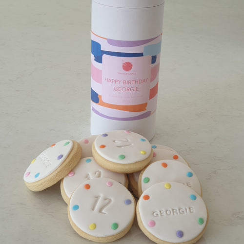 Happy Birthday Personalised Sprinkle Cylinder