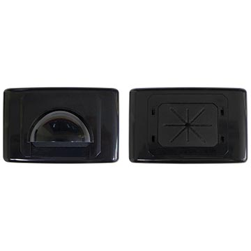 Large Bullnose Outlet Plate (Black)
